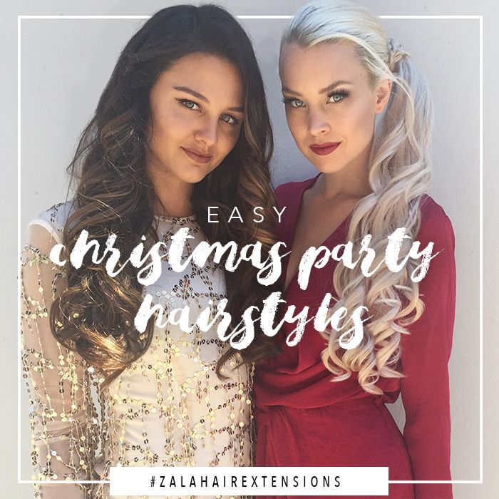 Christmas Party Hairstyles.Easy Christmas Party Hairstyles Zala Clip In Hair Extensions