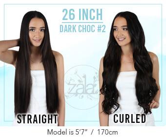 Zala - Rich Mocha Brown Clip in Hair Extensions-