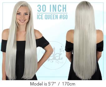 Zala 30 Inch Jet Black Clip In Hair Extensions 100 Human Jet Black Hair Extensions