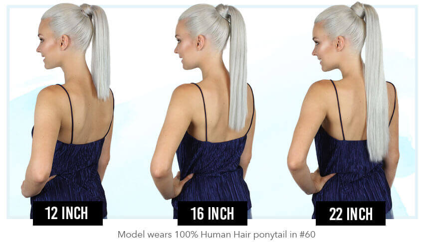 Zala - Human PonyTail Clip in hair extensions