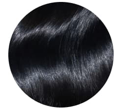 Jet black hair extensions #1