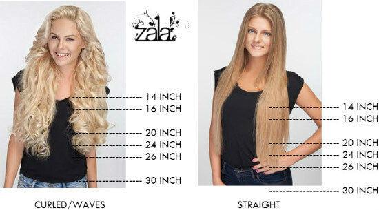 Zala - Hair Extensions Lengths Comparison